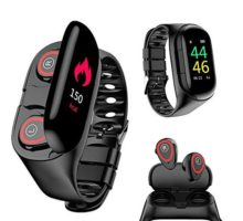 Wireless Bluetooth Earbuds Smartwatch Bracelet 2 in 1 Fitness Tracker Band Smart Bracelet