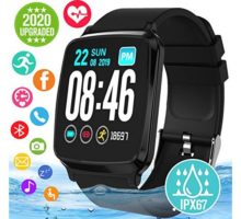 Smart Watch Smartwatch for Android Phones Waterproof Fitness Watch with Heart Rate Sleep Monitor Sport Fitness Activity Tracker Watch with Pedometer Calorie Compatible for Samsung iOS Women Men