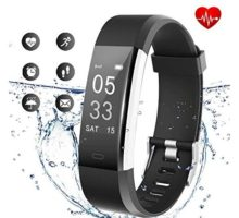 Lintelek Fitness Tracker Activity Tracker with Heart Rate Monitor Waterproof Smart Fitness Watch with Sleep Monitor Step Counter Calorie Counter Pedometer Watch Upgrade Version