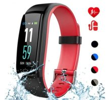 Mgaolo Fitness Tracker with Blood Pressure Heart Rate Sleep MonitorIP68 Waterproof Activity Tracker Smart Watch with Pedometer Calorie Step Counter Compatible with iPhone and Android Phones