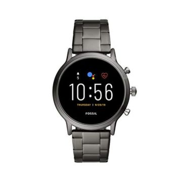 Fossil Gen 5 Carlyle HR Heart Rate Stainless Steel Touchscreen Smartwatch Color Smoke